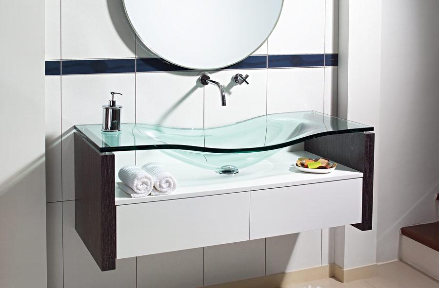Produto  Acessórios para Banheiro  Tudo sobre Acessórios para banheiro  Be -> Cuba Para Banheiro Com Bancada De Vidro