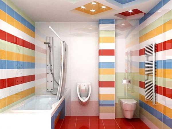 decoração de banheiro colorida para ambientes mais descontraídos