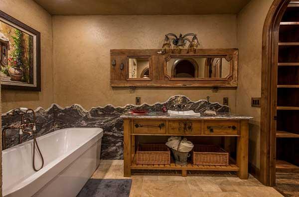 O rústico cresce a cada dia na decoração de banheiro