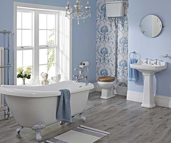 decoração de banheiro com toque clássico