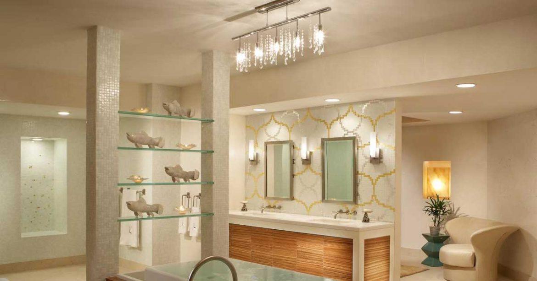 A iluminação é parte importante na decoração de banheiros