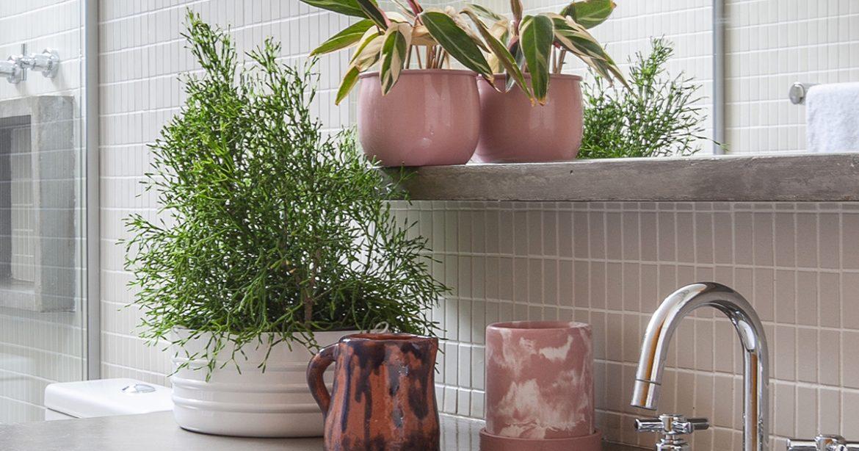Mini guia de decoração de banheiro com plantas