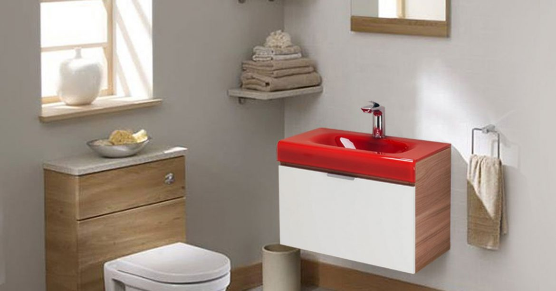 Como um gabinete para banheiro com cuba ajuda na decoração e organização